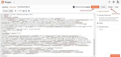 Cara Membuat Daftar Isi Di Blogspot Blogger - Tutorial Mengisi Kode HTML di Halaman