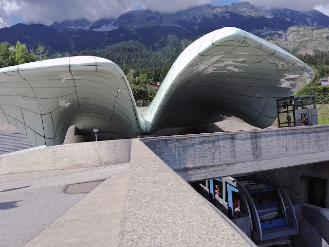 The Hungerburg funicular station designed by Zaha Hadid
