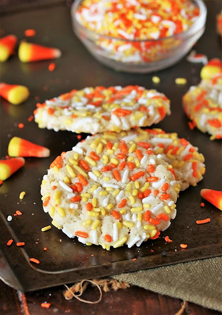 Halloween Sprinkle Sugar Cookies with Candy Corn Colored Sprinkles Image