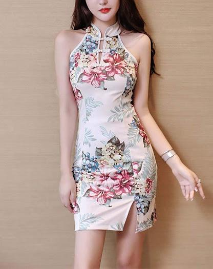 Short Qipao Cheongsam Dresses For Women