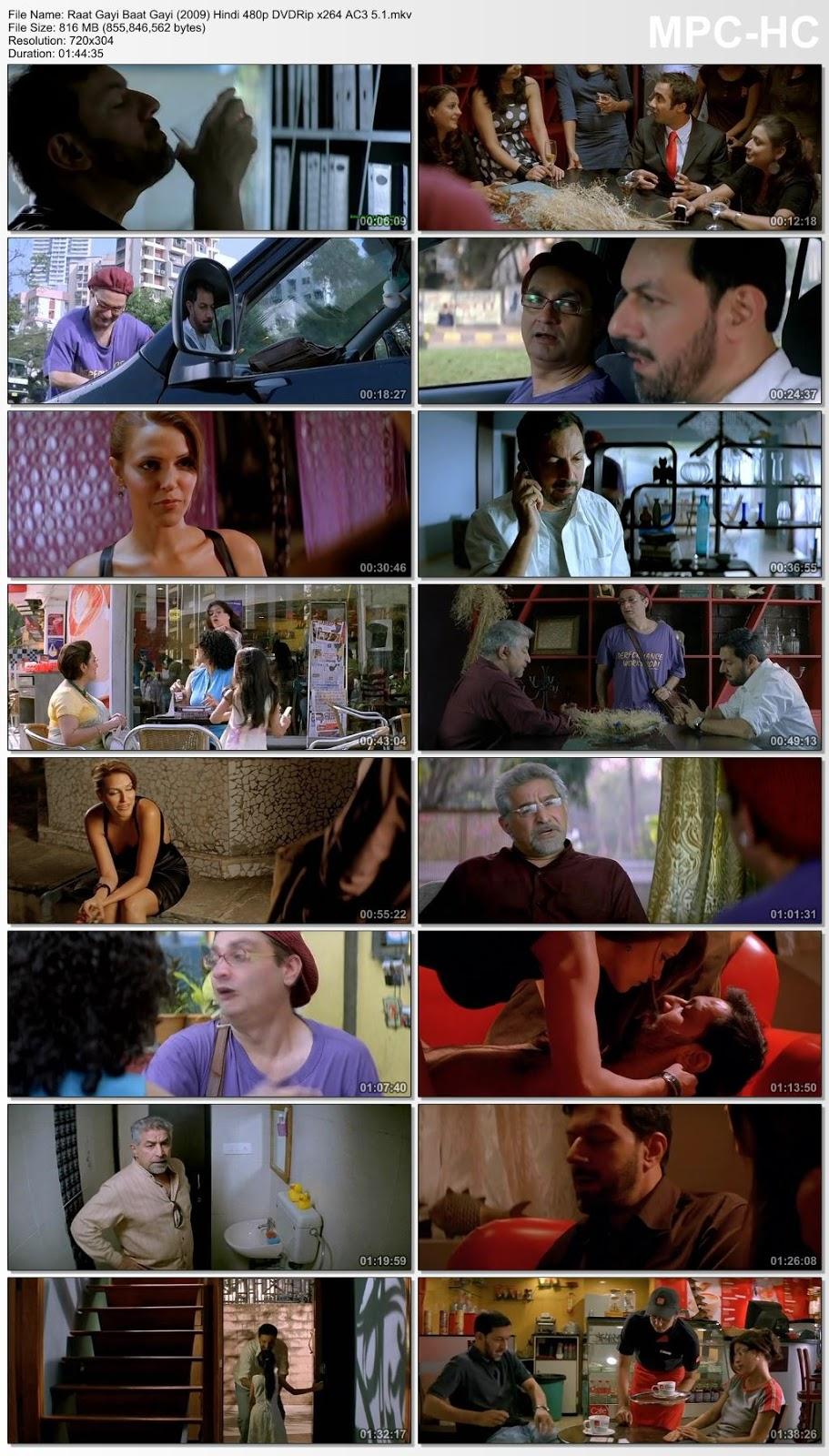 Raat Gayi Baat Gayi (2009) Hindi 480p DVDRip x264 AC3 5.1 – 800MB Desirehub