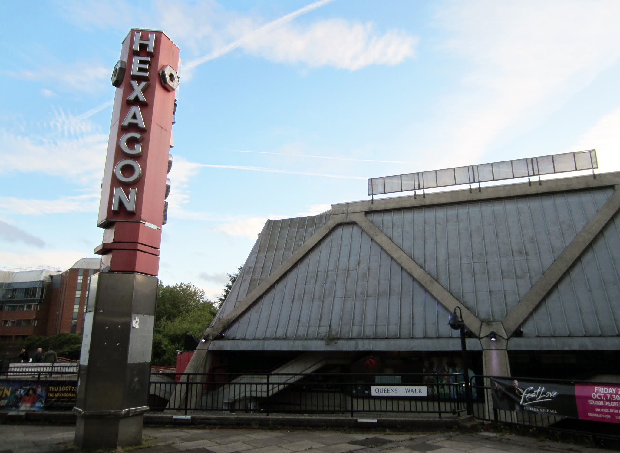 Exterior of The Hexagon theatre in Reading