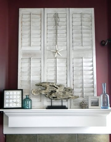 mantel with shutter
