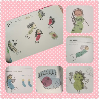 Fingerprint Princesses and Fairies sample art