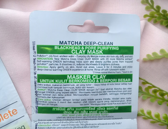 garnier masker, masker peel off, clay mask, matcha clay mask, pretty-moody.com