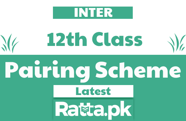 Inter 2nd Year Pairing Scheme 2020 All Subjects - FSC/ICS 12th Class