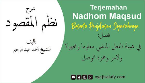 Penjelasan Nadzom Maqsud