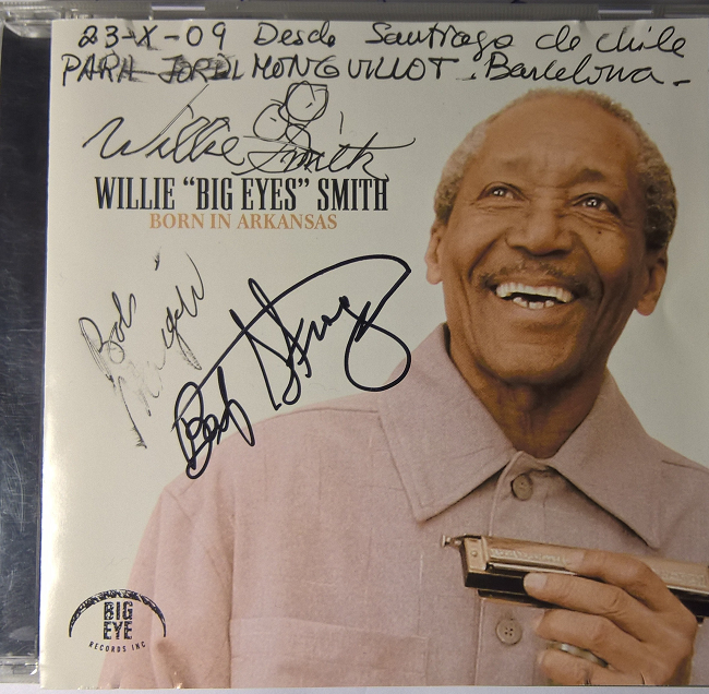"Autografo Willie "" Big Eyes ""  Smith & Bob Margolin"