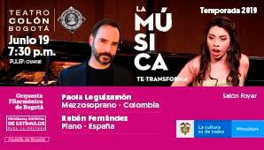 RECITAL Paola Leguizamón en Teatro Colon 2019