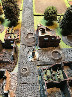 British bombs and LMG fire destroy the German defences