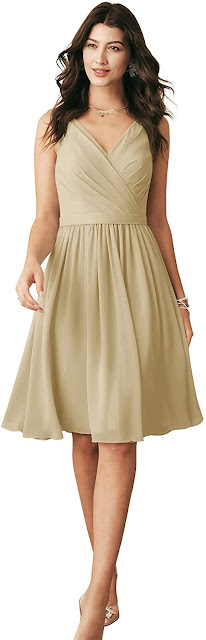 Beautiful Knee Length Chiffon Bridesmaid Dresses