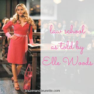 law school as told by Elle Woods | brazenandbrunette.com