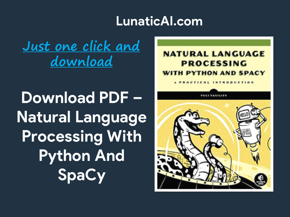 Natural Language Processing with Python and SpaCy PDF Github