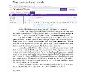 Terjemahan Text 1: An Email From Hannah Untuk Alia Bahasa Inggris Kelas 10