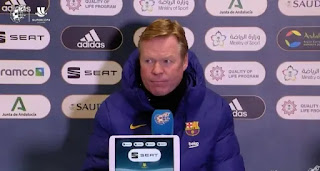 Koeman speaks on squad rotation: 'Super Cup is important, there are no reasons for change'