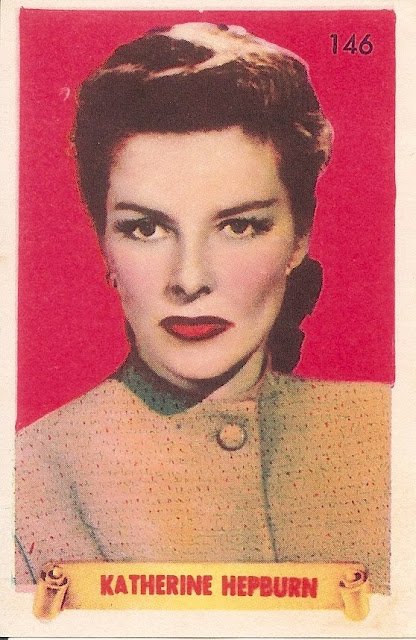Cromo antiguo de Katharine Hepburn