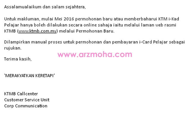permohonan baru ktm i-card secara online, renew KTM i-card secara online, cara memperbaharui KTM i-card secara online,