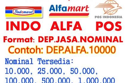 Cara Deposit Saldo Pulsa Lewat Alfamart, Indomaret & Pos Indonesia