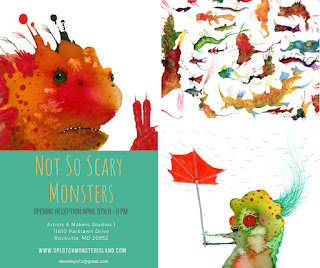 Not So Scary Monsters exhibit