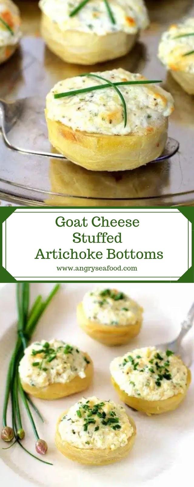 Goat Cheese Stuffed Artichoke Bottoms