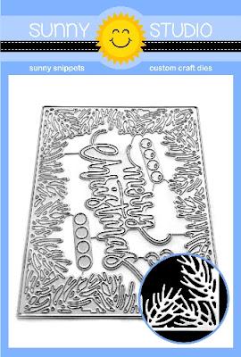 Sunny Studio Stamps: Christmas Garland Tree Bough Border & Berries Merry Christmas Frame Metal Cutting Dies