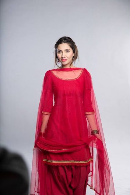 Beautiful girls in Red Punjabi suits