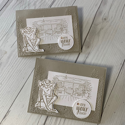 Two masculin hand made greeting cards for Father's Day or a birthday