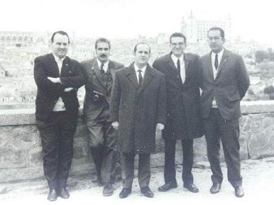 Equipo de la provincia de Barcelona en el VIII Campeonato de Ajedrez de Educación y Descanso 1956