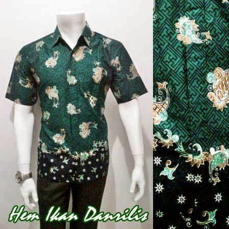 Model Baju Batik Pria Motif Ikan Danliris Batik Bagoes Solo