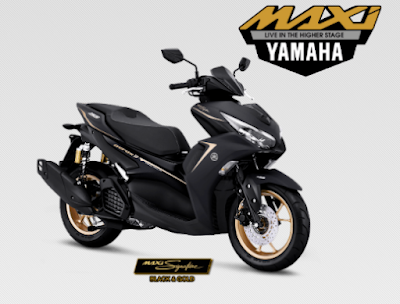 All New Yamaha Aerox Terbaru 2021 Black & Signature