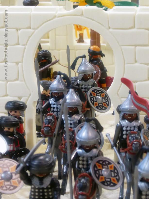 """Diorama Playmobil Medieval """"Las Cruzadas"""" (Cocheras de Sants - 2020)"""