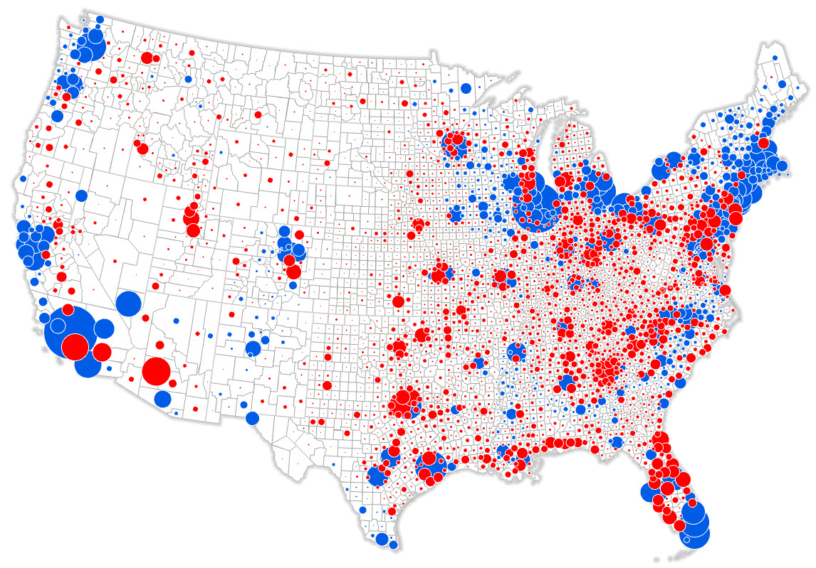 Cartonerd The NYT Election Map - Map of population density us election
