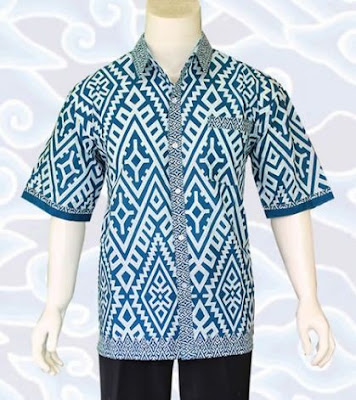 model baju batik pria kombinasi