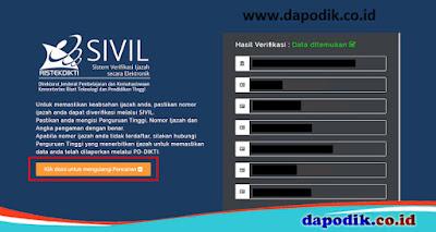 Verifikasi Nomor Ijazah Melalui SIVIL ijazah.kemdikbud.go.id