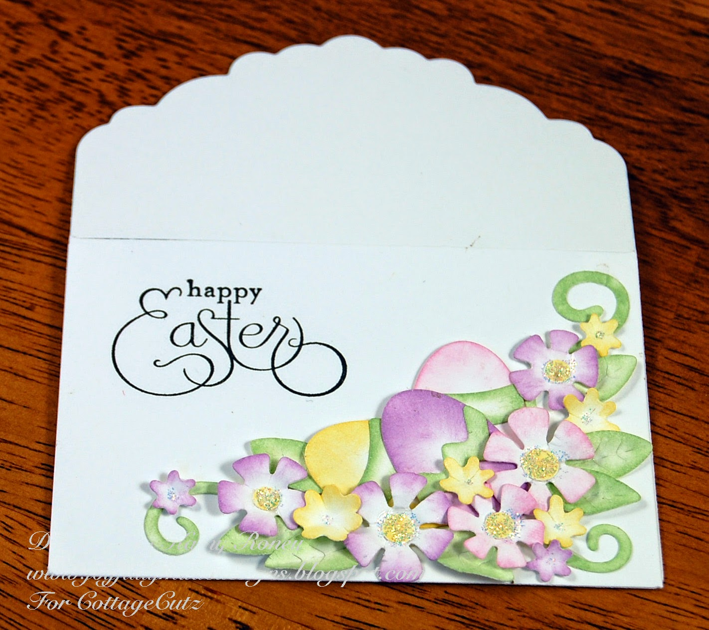 Cottageblog easter gift card holder all the die pieces were cut with white card stock and colored with chalk inks i used thatched straw aloe vera spring pansy versamagic and pink cheeks negle Choice Image