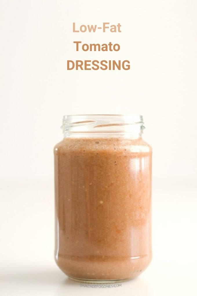 Low Fat Tomato Dressing | Dance of Stoves