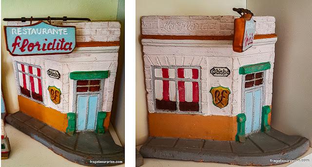 Miniatura em cerâmica de La Floridita, Havana
