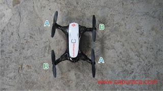 Drone Mini tidak bisa Terbang