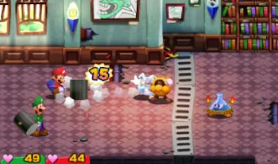 Mario & Luigi Superstar Saga Virus Woohoo Hooniversity hammer counterattack