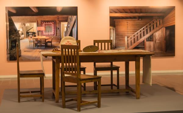 PauMau blogi aino Sibelius Järvenpää taidemuseo Jean Sibelius näyttely 2015 juhlavuosi vintage huonekalut Ainola ruokasalin pöytä tuolit
