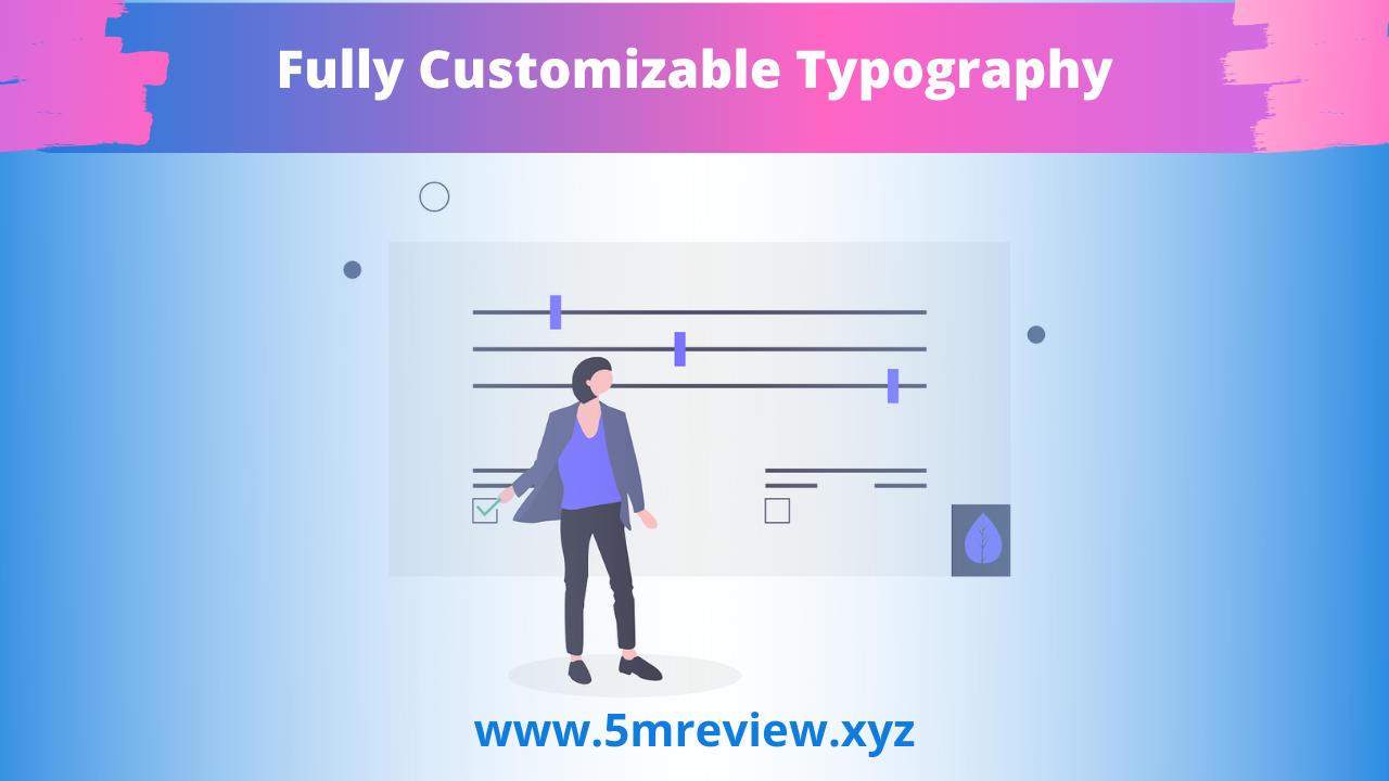 WebSuitePro Fully Customizable Typography