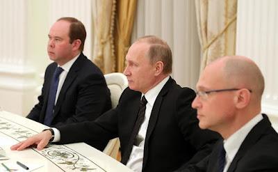 Vladimir Putin, Anton Vaino, Sergei Kiriyenko.