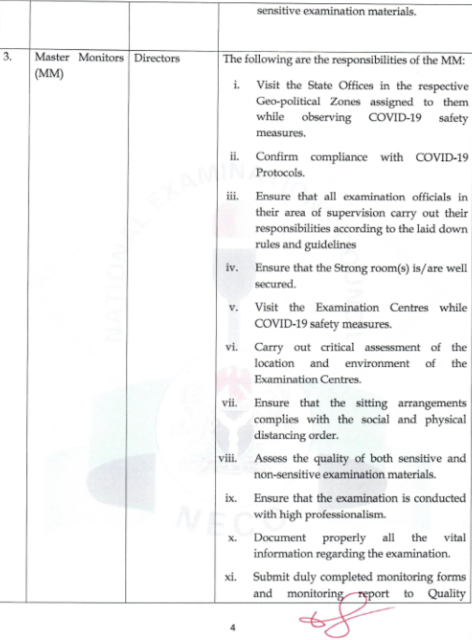 NECO 2020 BECE Manual & Monitoring Forms [Download in PDF]