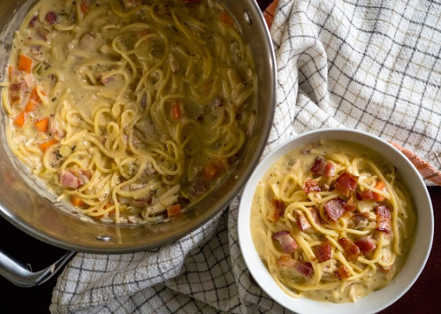 Crack Chicken Noodle Soup #dinner #soup