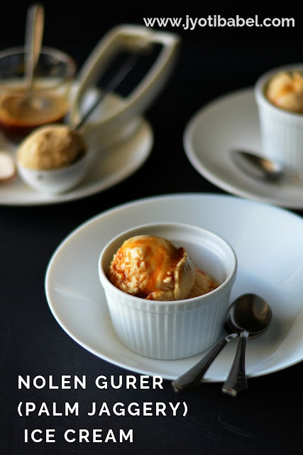 Nolen Gurer (Palm Jaggery) Ice Cream | How to Make Nolen Gur Ice Cream