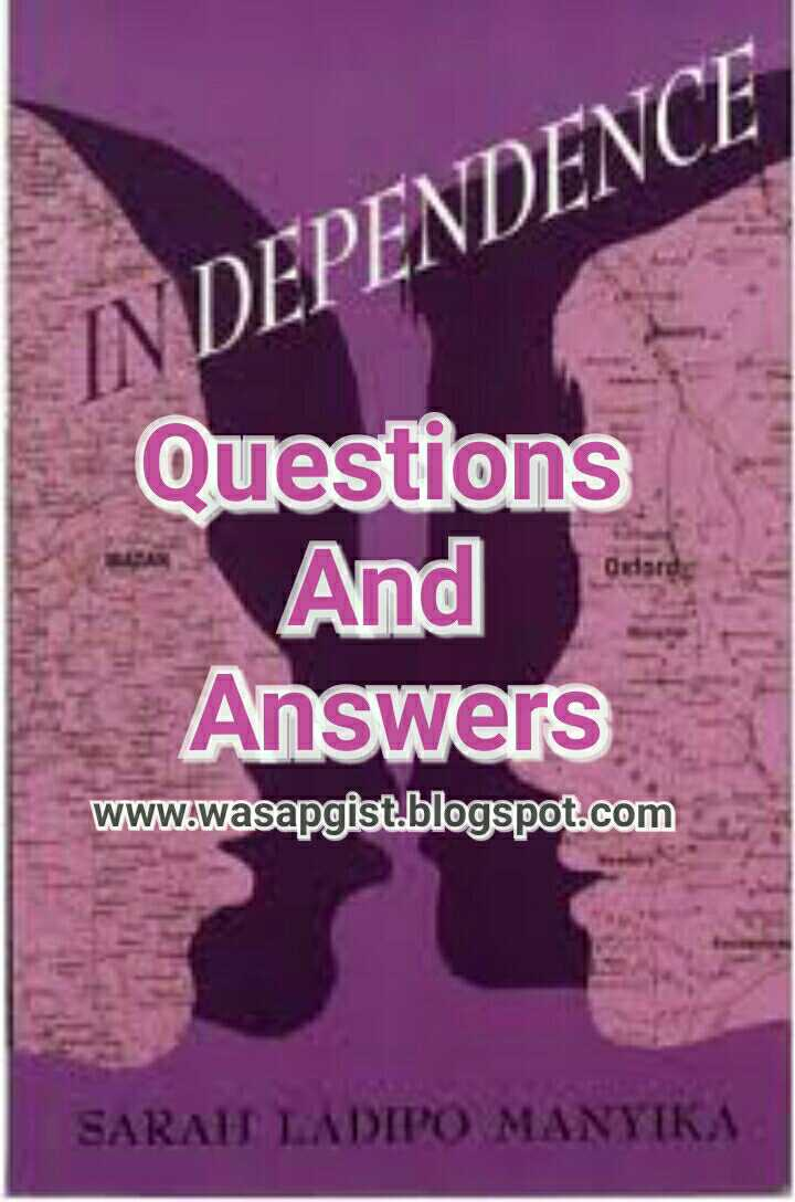 In Dependence - Jamb 2017 Novel