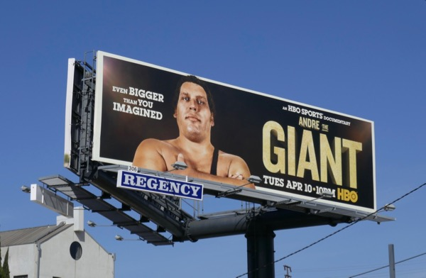 Andre The Giant documentary billboard