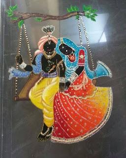 Radha krishna rangoli designs