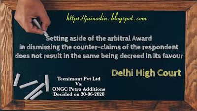 Setting aside of arbitration award is not decreed award