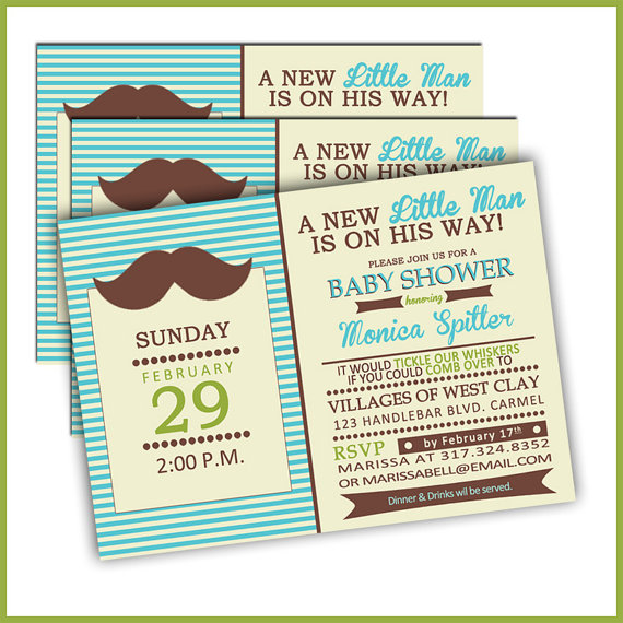 Baby Shower Mustache Theme: My Little Man's Mustache Baby Shower